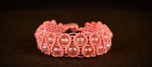 Bohemian Princess Beaded Macrame Bracelet