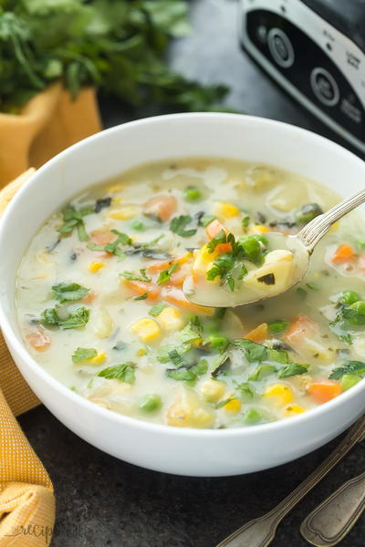 Slow Cooker Creamy Vegetable Soup