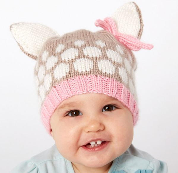 Speckled Fawn Baby Hat