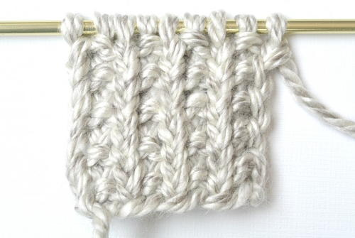 How to Knit the Broken Rib Stitch AllFreeKnitting.com