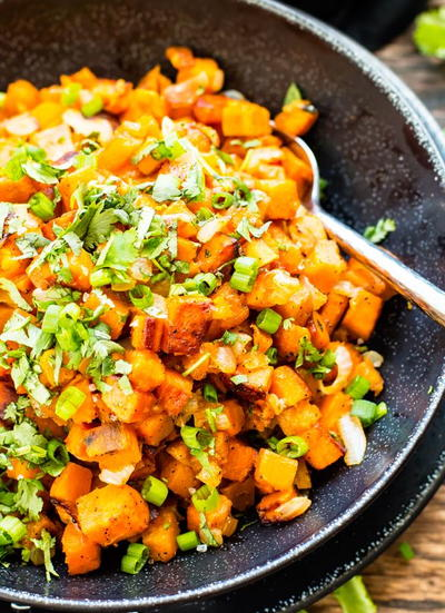 Easy Skillet Sweet Potatoes