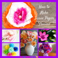 How to Make Tissue Paper Flowers: 14 Paper Craft Ideas