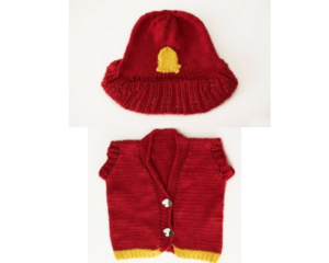 Firefighter Knit Vest and Hat