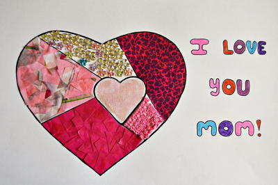 I Love You Mothers Day Collage