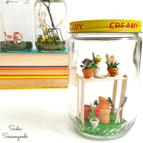 Spring DIY Garden in a Jar