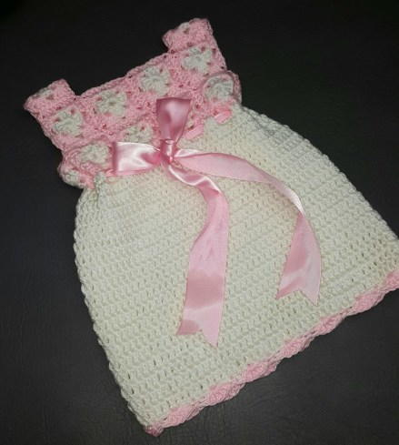 Mini Crochet Granny Square Dress for Baby