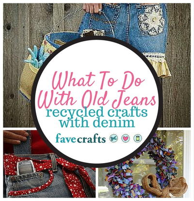 60cbbbcfe2 What To Do With Old Jeans  34 Recycled Crafts With Denim ...