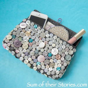 Button Clutch Bag