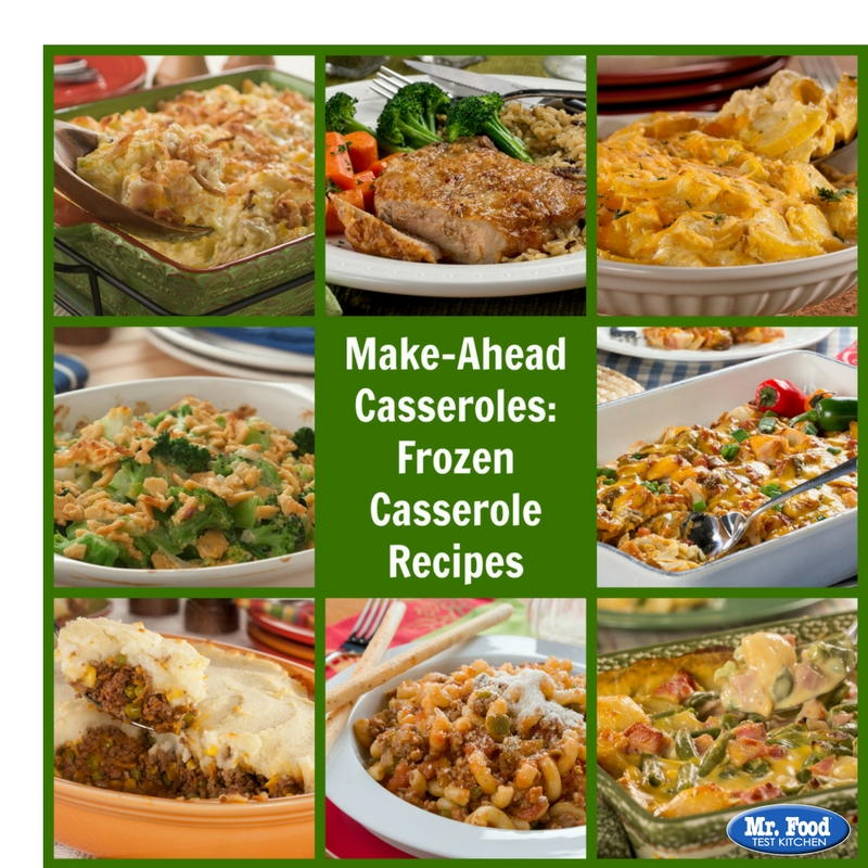 10 Make-and-Freeze Casseroles. A freezer full of ready-to-bake casseroles is a key to home-cooked weeknight meals. Try these top-rated recipes. Angela's Awesome Enchiladas. This top-rated enchilada recipe can be frozen; to bake them, cover the pan with foil and increase the baking time to about an hour. Most Made Today.