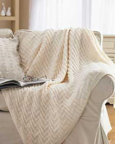 Knitting Patterns For Chunky Weight Yarn : Simple Chunky Blanket FaveCrafts.com