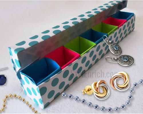 Multi-Section Origami Jewelry Box