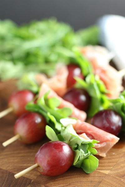 Grape & Prosciutto Skewers