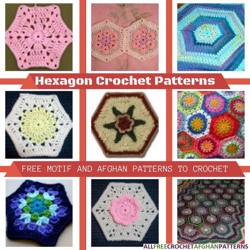 Hexagon Crochet Patterns: 15 Free Motif and Afghan ...