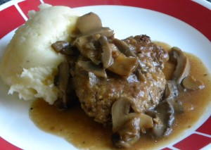Old Fashioned 1950s Slow Cooker Salisbury Steak