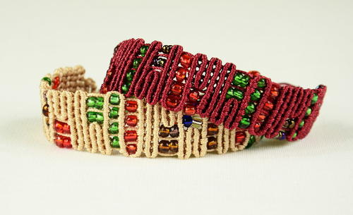 One Knot Beaded Macrame Bracelet
