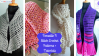 19 Versatile V Stitch Crochet Patterns + Tutorials