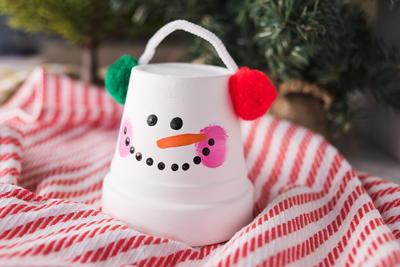 Decorative Flower Pot Snowman