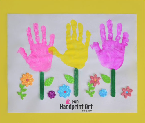 handprint flower craft thanks a bunch flower pot allfreekidscrafts 2150