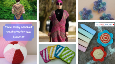 18 Free Easy Crochet Patterns for the Summer