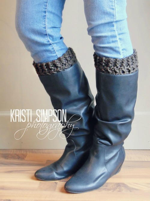 Faux Cable Boot Cuffs