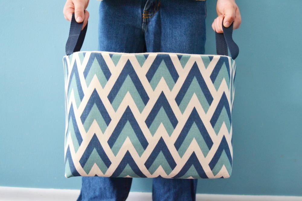 Diy Fabric Basket Tutorial Allfreesewing Com