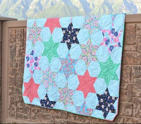 Counting Stars Bed Quilt Tutorial