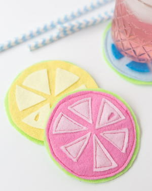 Summer Citrus DIY Coasters