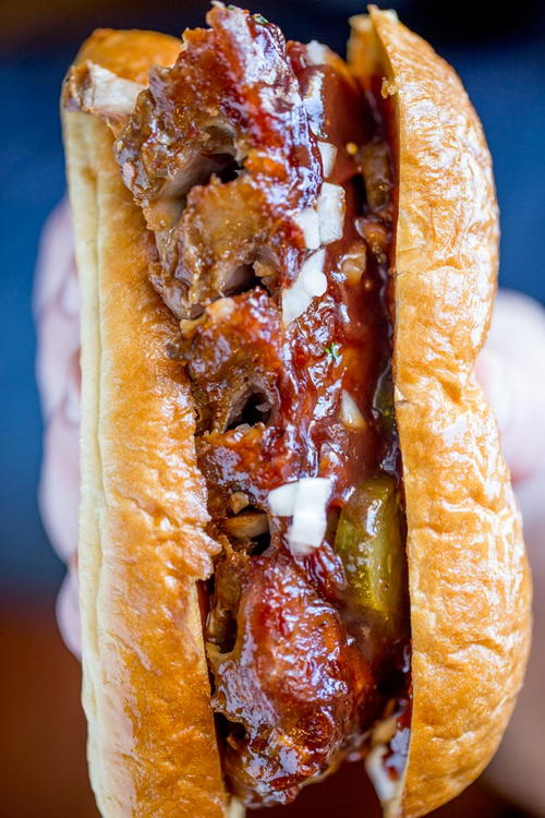 Slow Cooker McRib Sandwiches