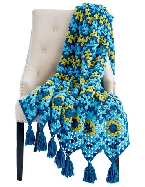 Mad for Tassels Granny Stitch Afghan