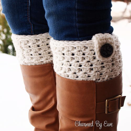 Star Stitch Boot Cuffs
