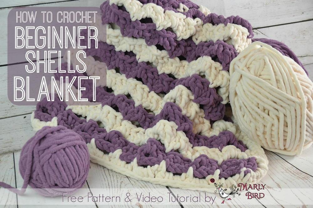 Beginner Shells Crochet Blanket Allfreecrochet Com
