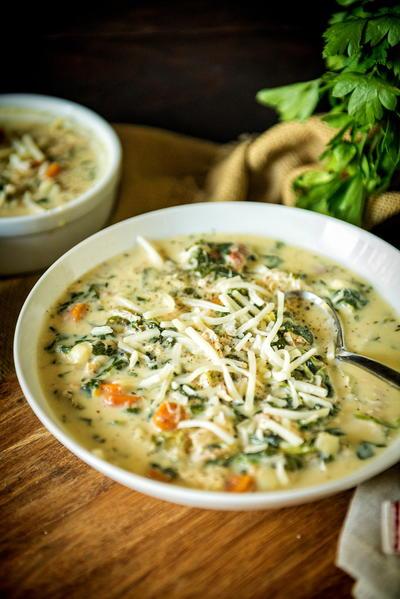Slow cooker copycat olive garden chicken gnocchi soup for Copycat olive garden chicken gnocchi soup