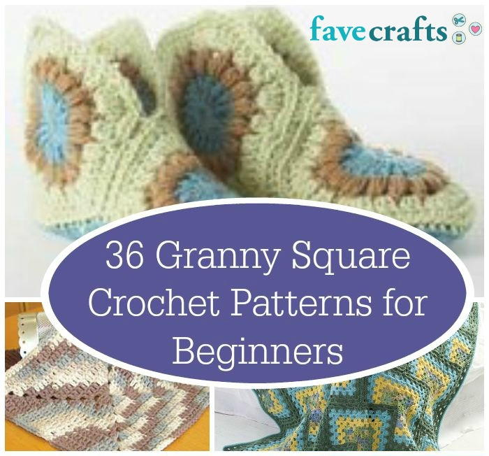 36 Granny Square Crochet Patterns for Beginners ...