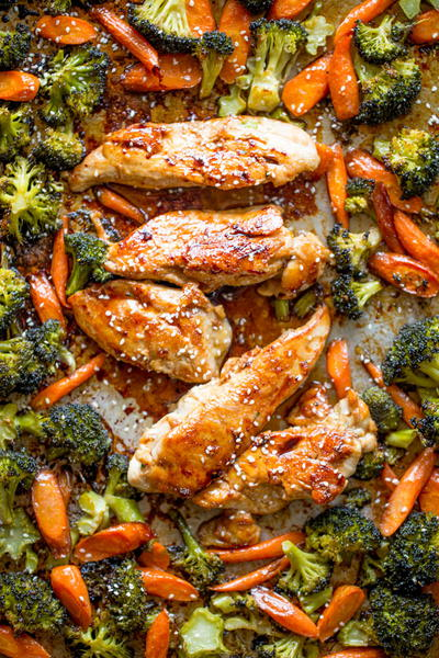 Sheet Pan Korean Chicken and Vegetables
