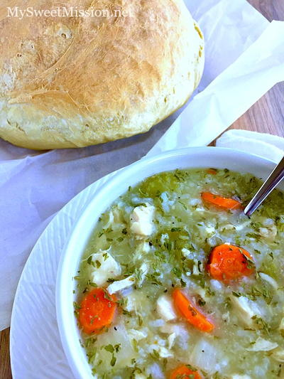 Homestyle Chicken and Rice Soup