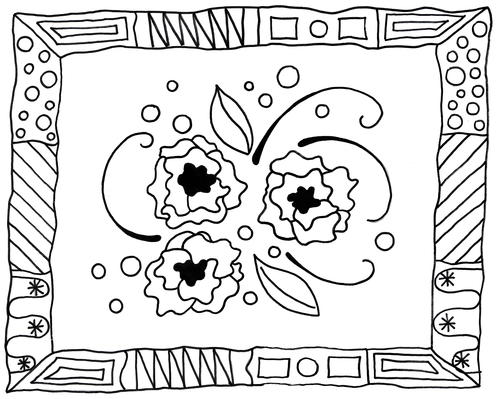 modern art coloring pages | Modern Art Adult Coloring Page | FaveCrafts.com