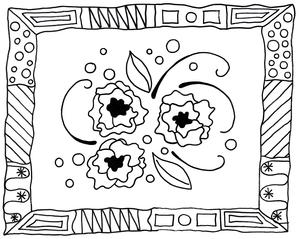Modern Art Adult Coloring Page
