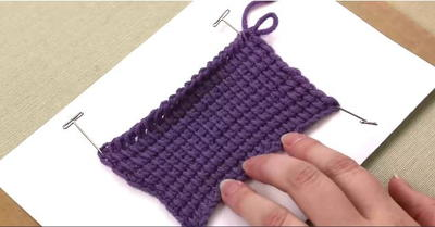 Tunisian Crochet Tutorial Swatch