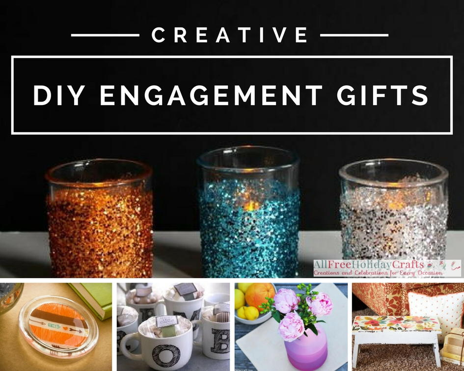 Wedding Gift Diy Ideas Suggestions : 36 Creative DIY Engagement Gifts AllFreeHolidayCrafts.com