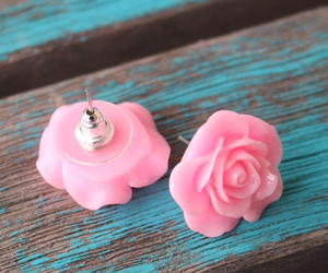 Rose DIY Resin Earrings