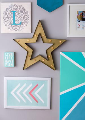 DIY Stenciled Wall Art