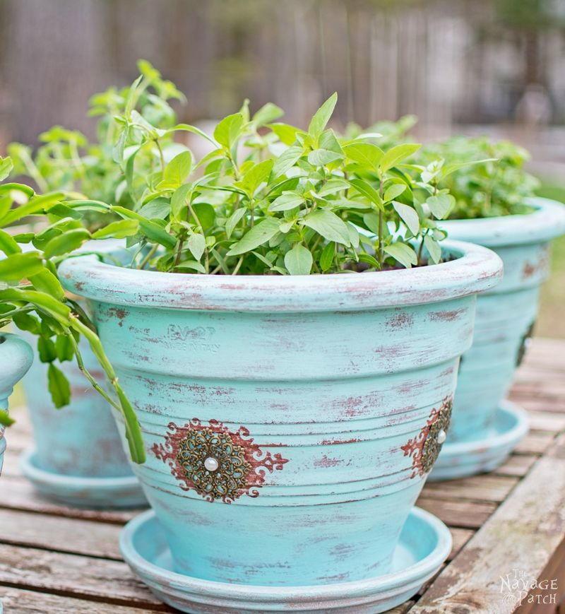 Refinishing Old Flower Pots Diyideacenter Com