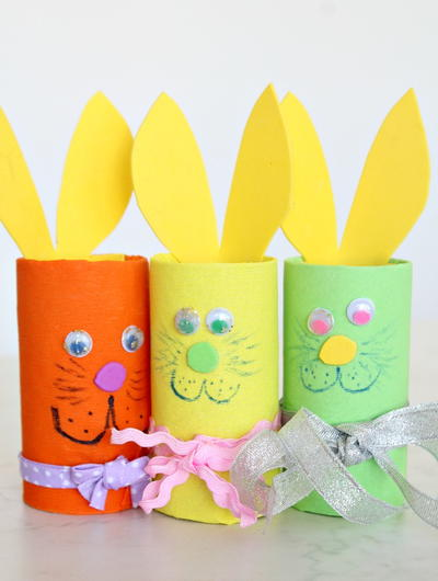 DIY Paper Tube Easter Bunnies