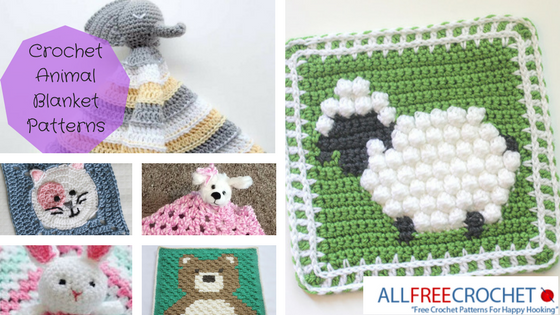 Knitting Animals From Squares : Crochet animal blanket patterns allfreecrochet