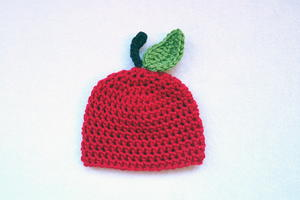 Apple of My Eye Preemie Crochet Hat