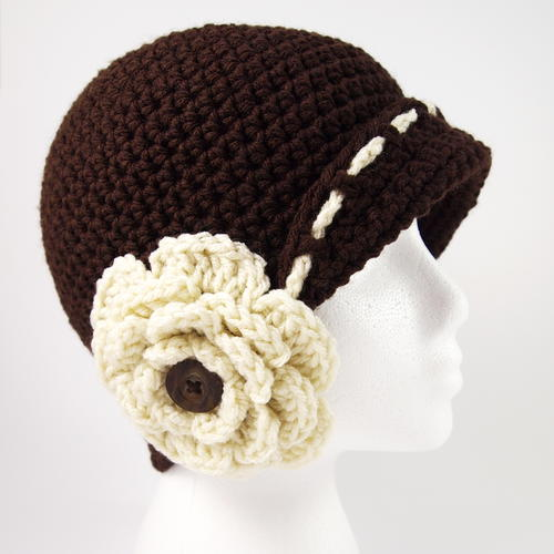 Vintage Flower Cloche Hat Crochet Pattern
