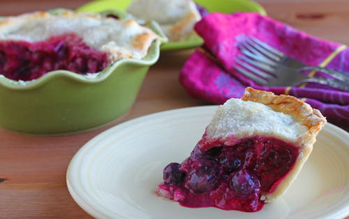 Mixed Berry Sour Cream Pie Recipe