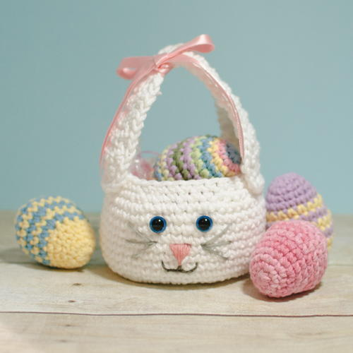 Crochet Easter Bunny Basket
