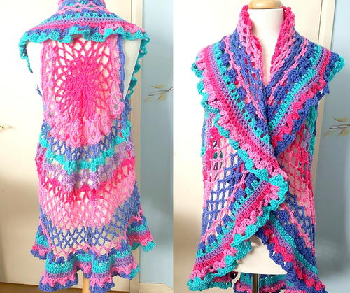 Boho Crochet Vest Allfreecrochetcom