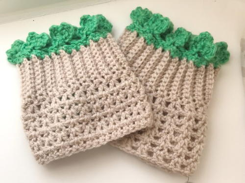 Shamrock Boot Cuff Pattern